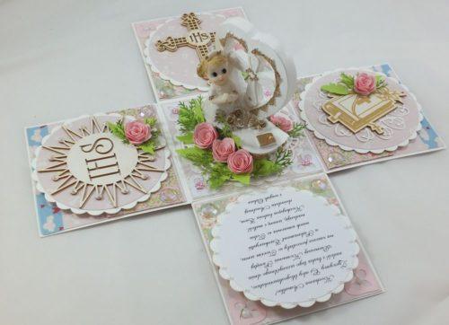 kartka ręcznie robiona, chrzest, komunia, prymicje, urodziny, ślub, haft pasja (47)
