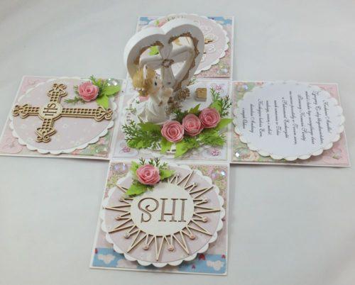 kartka ręcznie robiona, chrzest, komunia, prymicje, urodziny, ślub, haft pasja (48)