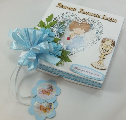 kartka ręcznie robiona, chrzest, komunia, prymicje, urodziny, ślub, haft pasja (82)