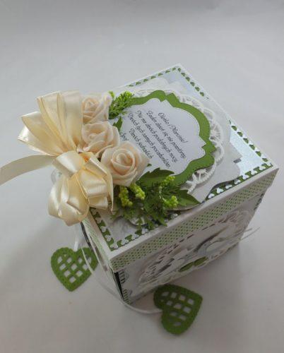 Kartka ręcznie robiona dzień nauczyciela, urodziny, chrzest, ślub, rocznica, roczek osiemnastka, exploding boxDSCF4012