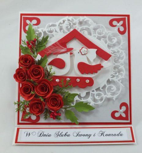 kartka ręcznie robiona, życzenia,imieniny, urodziny, ślub, komunia, chrzest, roczek, wykrojnik (123)