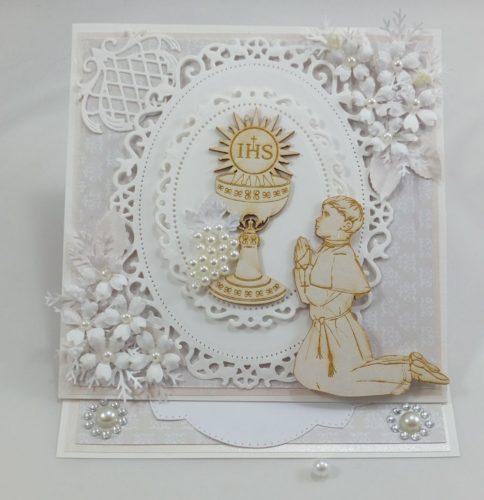 kartka ręcznie robiona, życzenia,imieniny, urodziny, ślub, komunia, chrzest, roczek, wykrojnik (154)