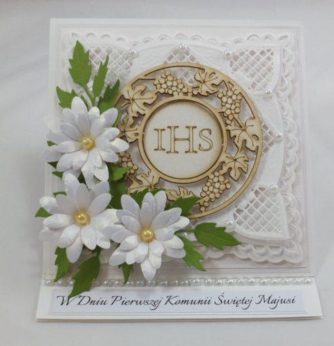 kartka ręcznie robiona, życzenia,imieniny, urodziny, ślub, komunia, chrzest, roczek, wykrojnik (51)