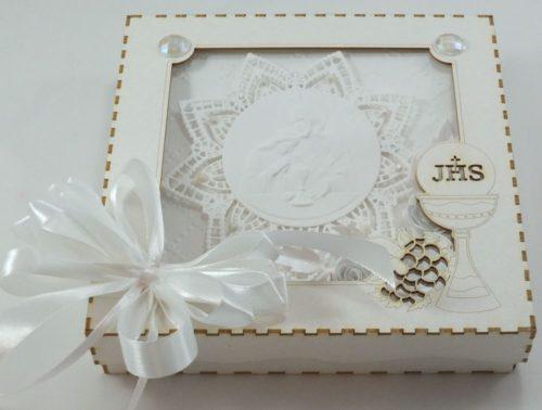 kartka ręcznie robiona, chrzest, komunia, prymicje, urodziny, ślub, haft pasja (78)