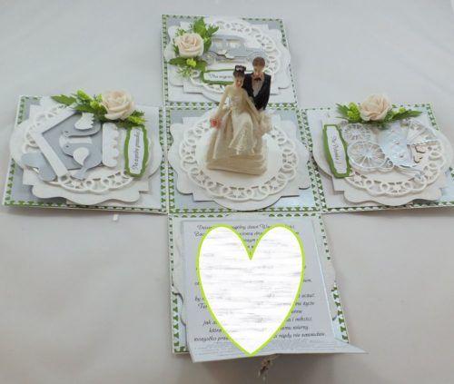 Kartka ręcznie robiona dzień nauczyciela, urodziny, chrzest, ślub, rocznica, roczek osiemnastka, walentyni, życzenia,exploding box