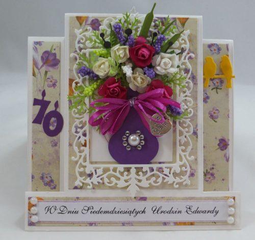 kartka ręcznie robiona, życzenia,imieniny, urodziny, ślub, komunia, chrzest, roczek, wykrojnik (63)