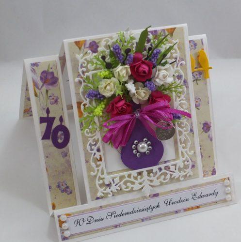 kartka ręcznie robiona, życzenia,imieniny, urodziny, ślub, komunia, chrzest, roczek, wykrojnik (65)