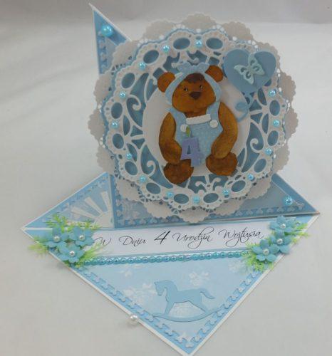 kartka ręcznie robiona, życzenia,imieniny, urodziny, ślub, komunia, chrzest, roczek, wykrojnik  (42)