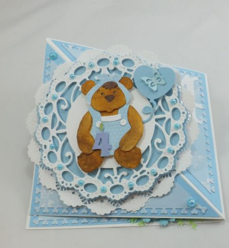 kartka ręcznie robiona, życzenia,imieniny, urodziny, ślub, komunia, chrzest, roczek, wykrojnik  (43)
