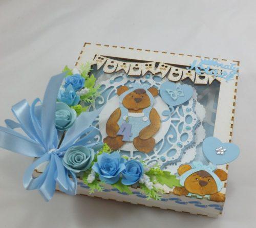 kartka ręcznie robiona, życzenia,imieniny, urodziny, ślub, komunia, chrzest, roczek, wykrojnik  (45)